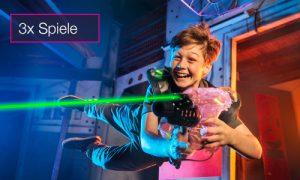 Lasertag 3 Spiele Gutschein indoorGAMES