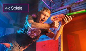 Lasertag 4 Spiele Gutschein indoorGAMES
