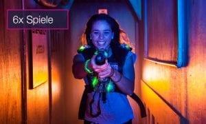 Lasertag 6 Spiele Gutschein indoorGAMES