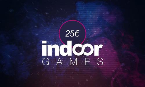 Indoorgames Gutschein 25€
